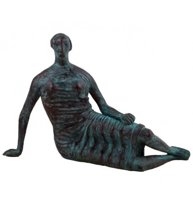 Draped Reclining Woman by Henry Moore